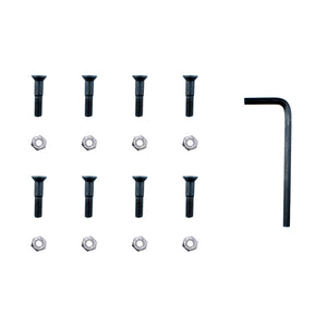 "SUNDAY 7/8"" DECK BOLTS (BLACK/SILVER)"