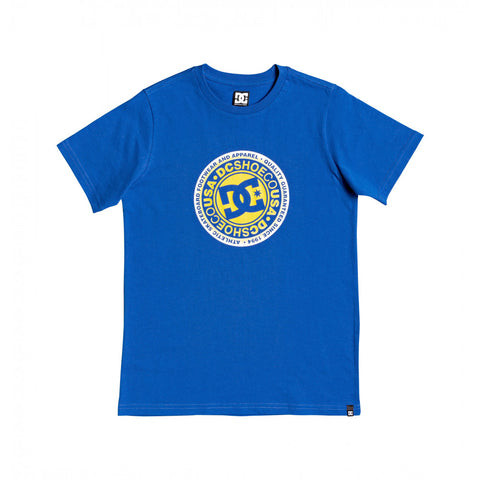 DC CIRCLE STAR FADE YOUTH TEE - BLUE