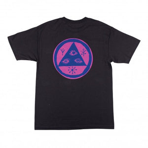 WELCOME VERTIGO TEE BLACK/SURF FADE