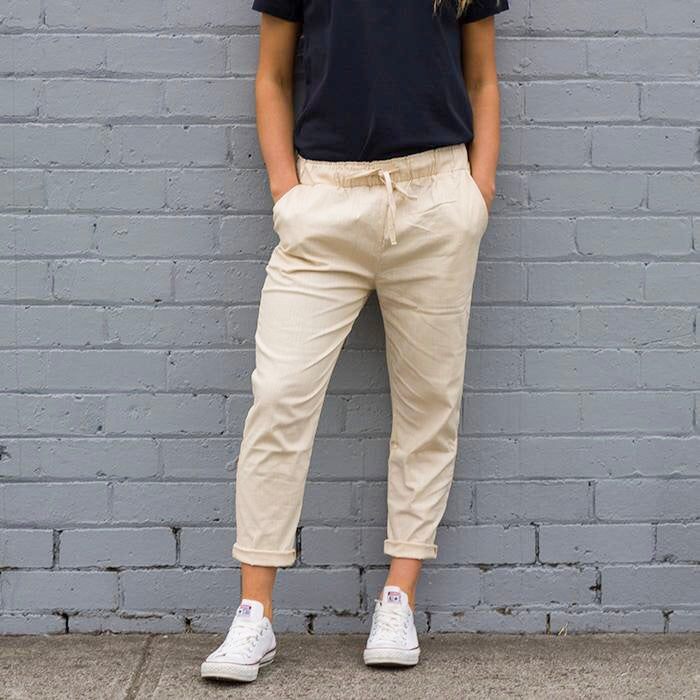 Faith Linen Pant - Ivory - AJ & Co.