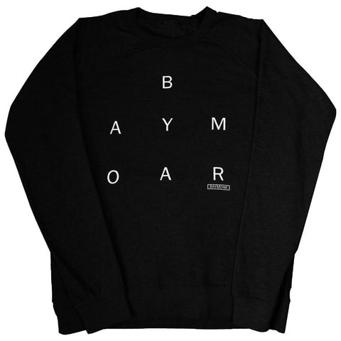 black midweight simple Baymoar crewneck sweater