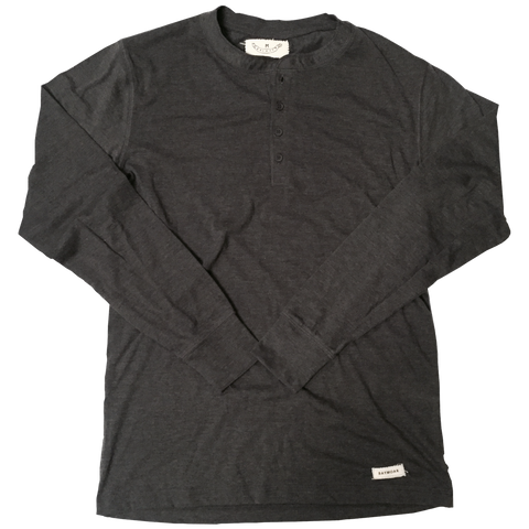 Four-buttoned Charcoal Henley