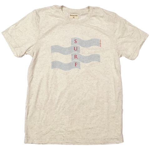 simple surf design graphic tee