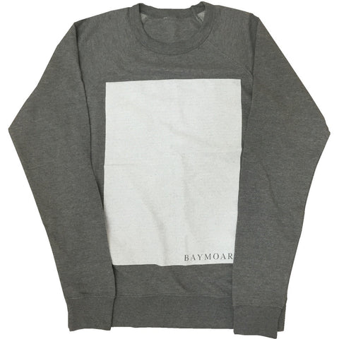 gray baymoar box graphic design sweater