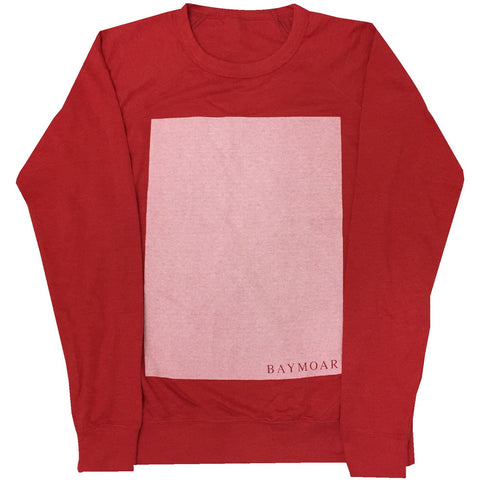 "Midweight Red ""Boite"" crewneck (Medium)"