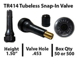 TPMS 24/7 Valve Stems Tubless Snap-in Valve TR414 (50pc)