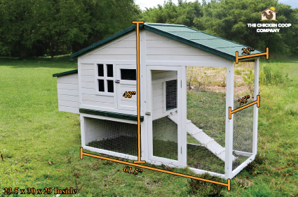 white chicken coop for sale