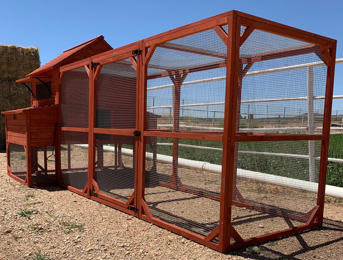 Rhode Island Homestead XL Chicken Coop and RUN extension 10+ Chickens - the Chicken Coop Company
