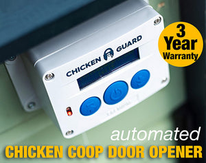 AUTOMATIC CHICKEN COOP DOOR OPENER PREMIUM & SELF LOCKING DOOR KIT - the Chicken Coop Company