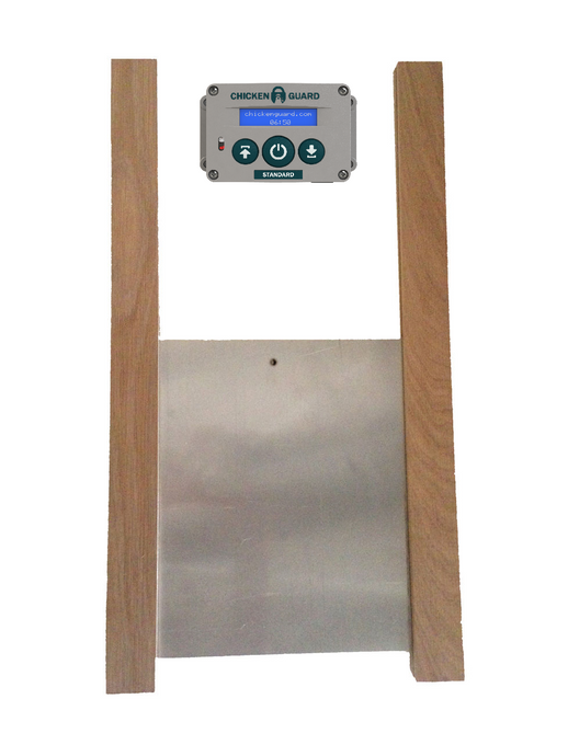 Automatic Chicken Coop Door Opener - Standard & Door Kit Combo - the Chicken Coop Company