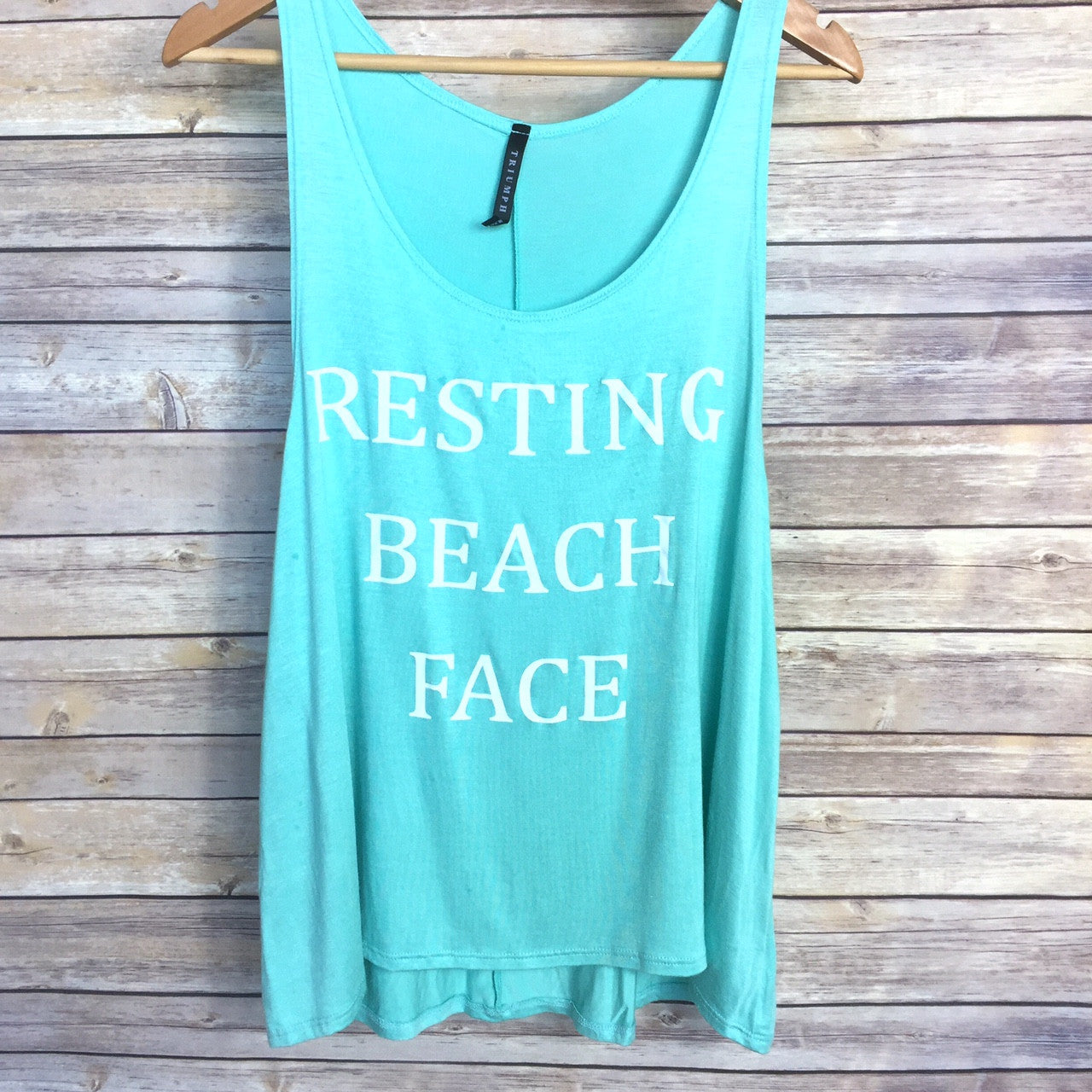 Resting Beach Face Tank - Harper East Boutique