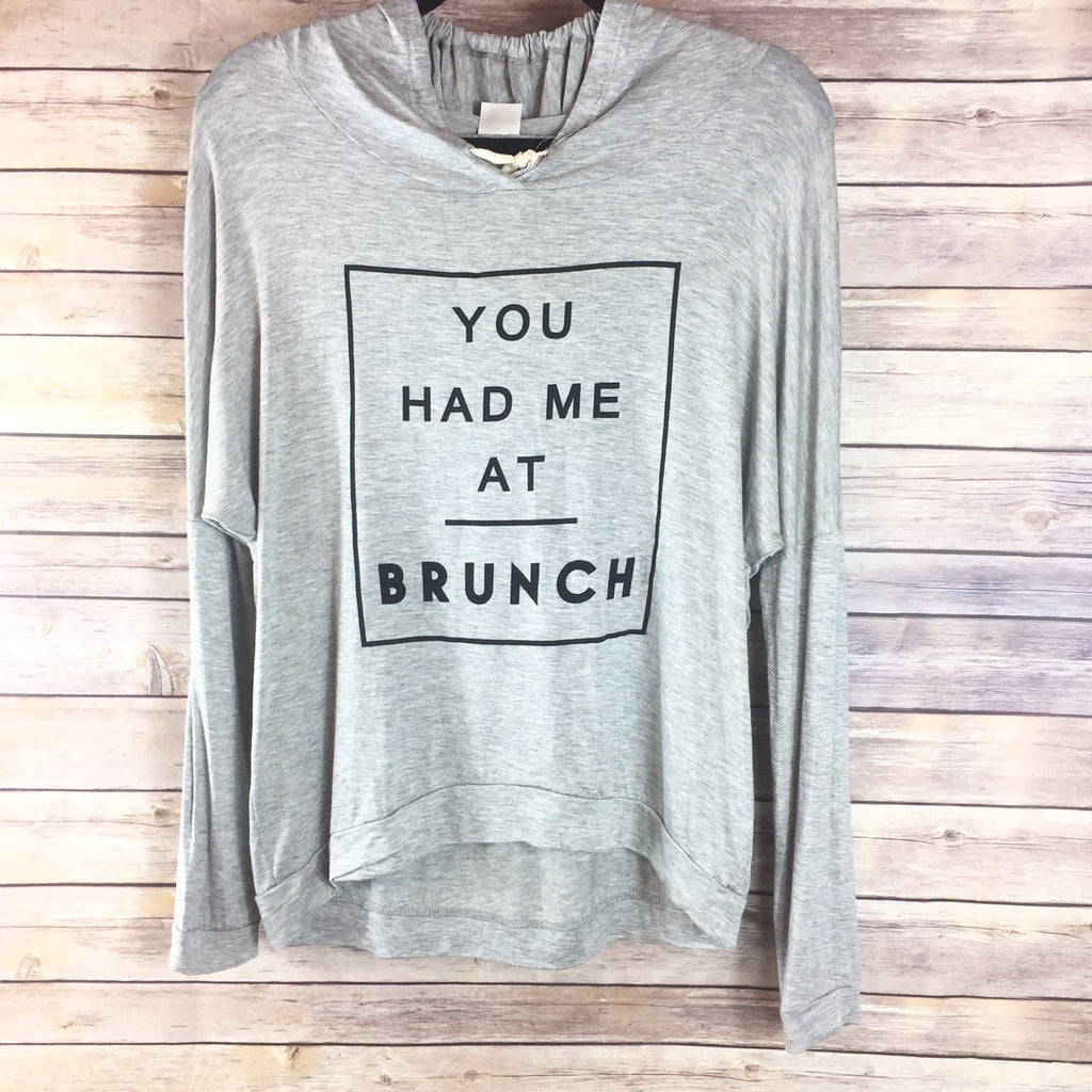 You Had Me At Brunch Hoodie - Harper East Boutique