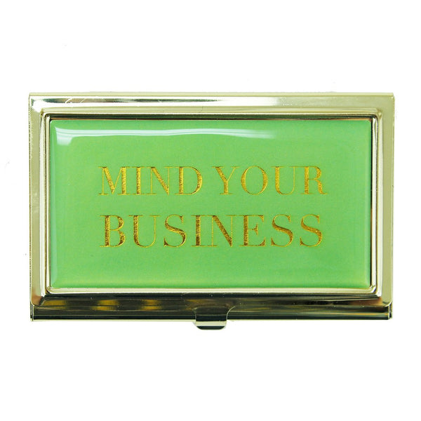 """Mind Your Business"" Card Holder - Harper East Boutique"