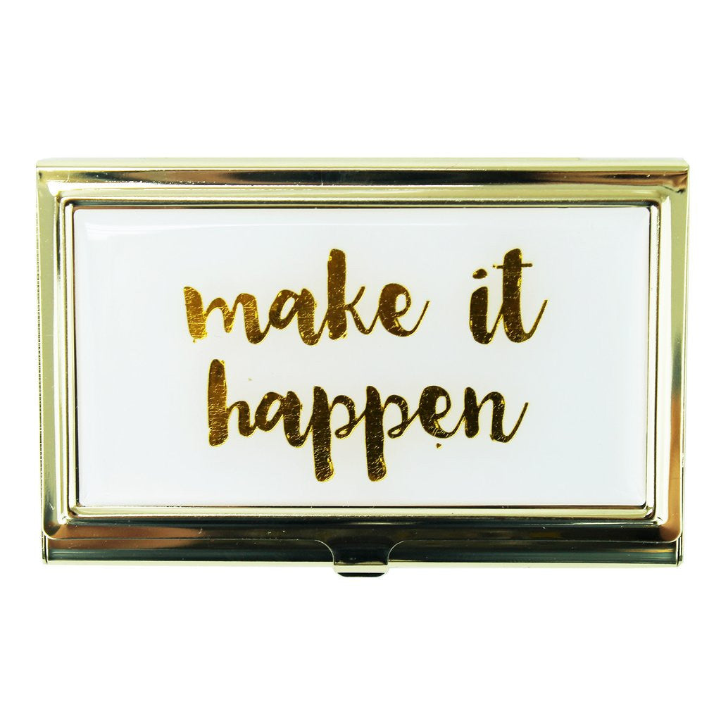 """Make It Happen"" Business Card Holder - Harper East Boutique"