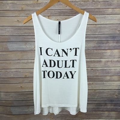 Can't Adult Today Tank - Harper East Boutique
