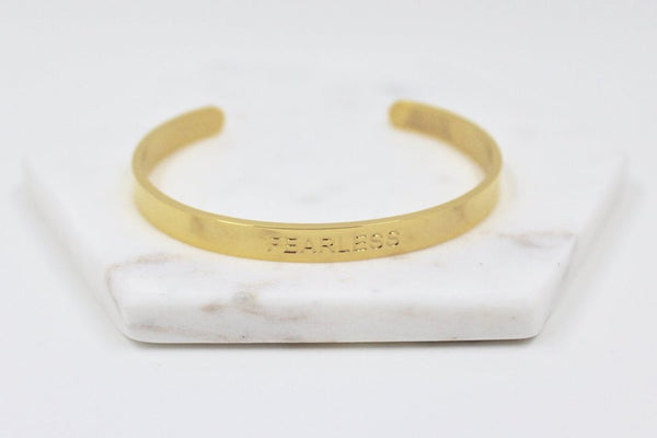 Fearless Cuff - Gold - Harper East Boutique