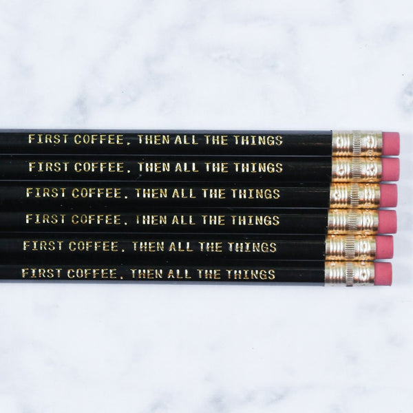 First Coffee Pencil Set - Harper East Boutique