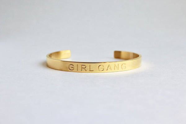 Girl Gang Cuff - Gold - Harper East Boutique