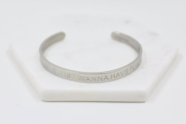 Girls Just Wanna Have Funds - Silver - Harper East Boutique
