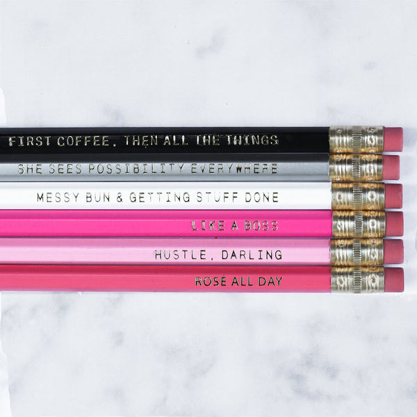 Motivational Pencil Set - Harper East Boutique