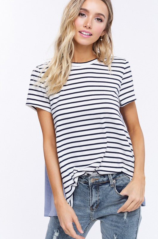 Stripe Up Your Life Contrast Top