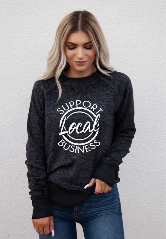 Support Local Vintage Sweatshirt