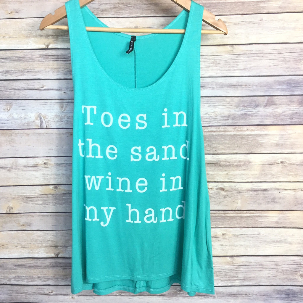 Toes In The Sand & Wine In My Hand Tank