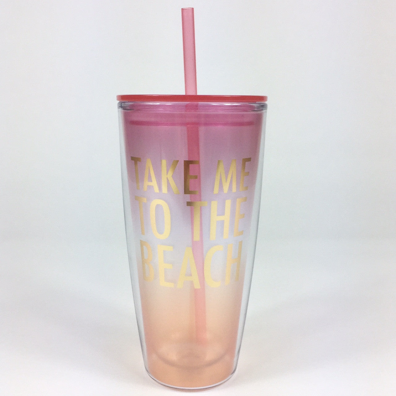 To The Beach Straw Tumbler - Harper East Boutique