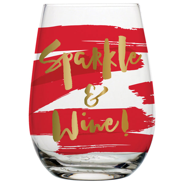Sparkle & Wine! Stemless Glass - Harper East Boutique
