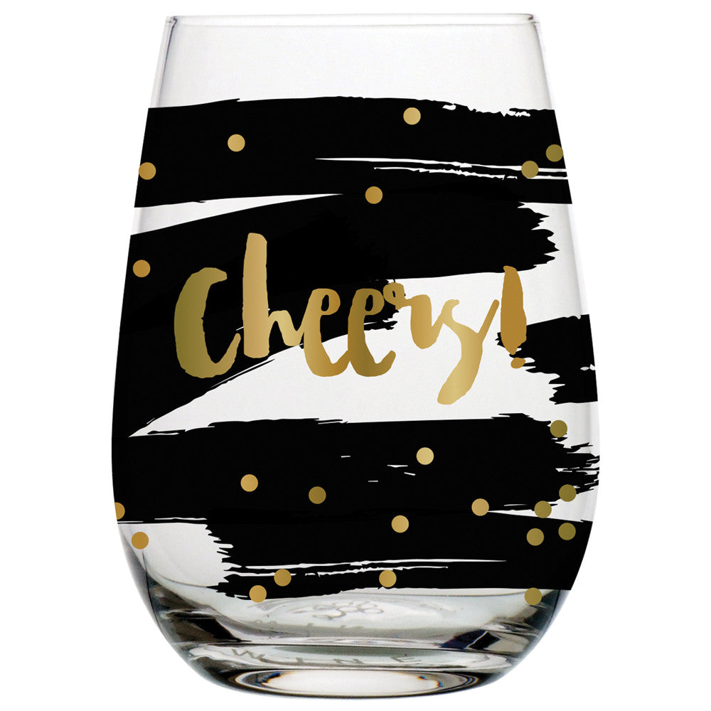 Cheers! Stemless Wine Glass - Harper East Boutique