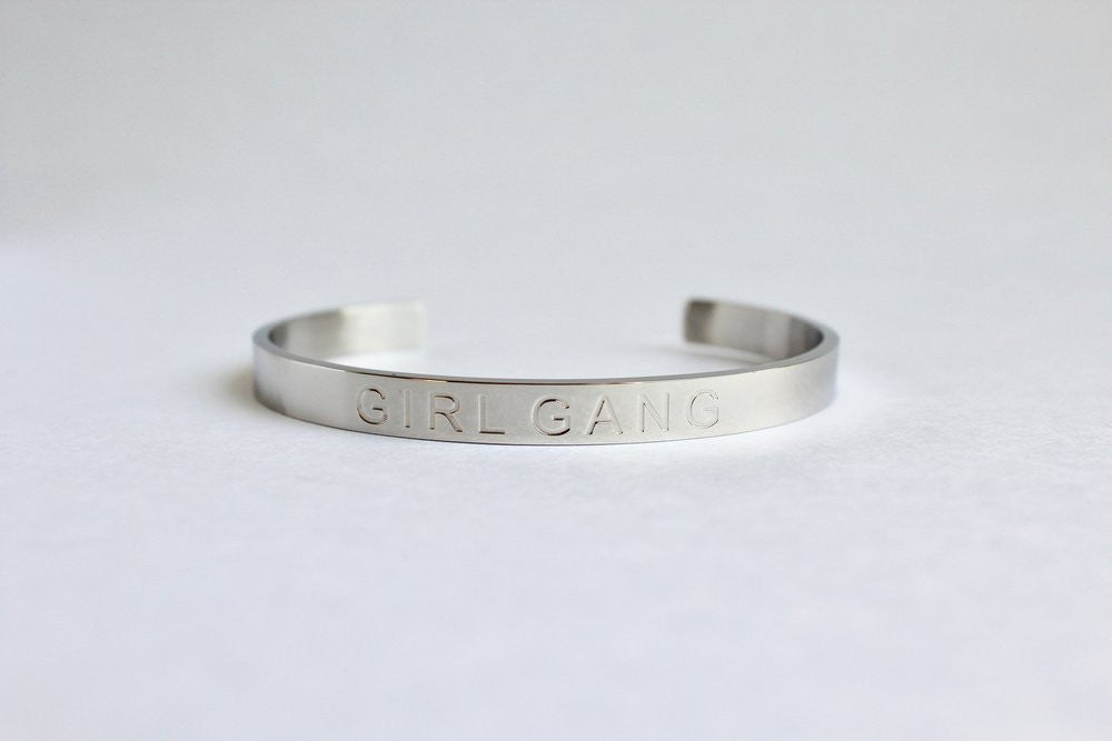 Girl Gang Cuff - Silver - Harper East Boutique