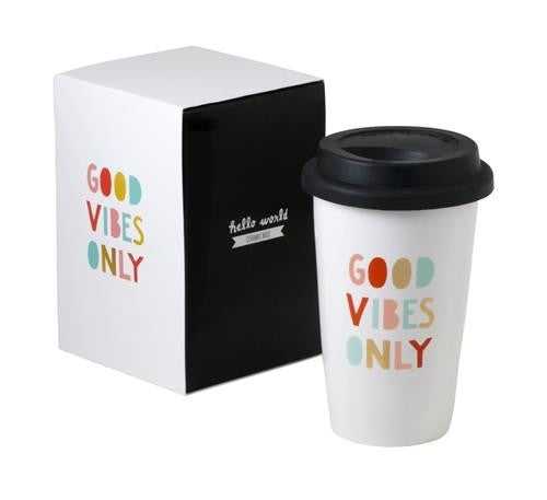 Good Vibes Only Thermal Mug - Harper East Boutique
