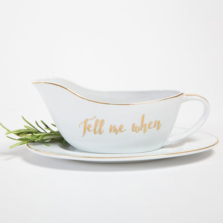 """Tell Me When"" Gravy Boat - Harper East Boutique"