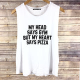 Heart Says Pizza Tank - Harper East Boutique