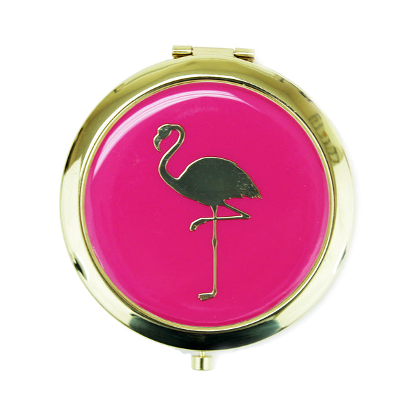 Flamingo Compact Mirror - Harper East Boutique