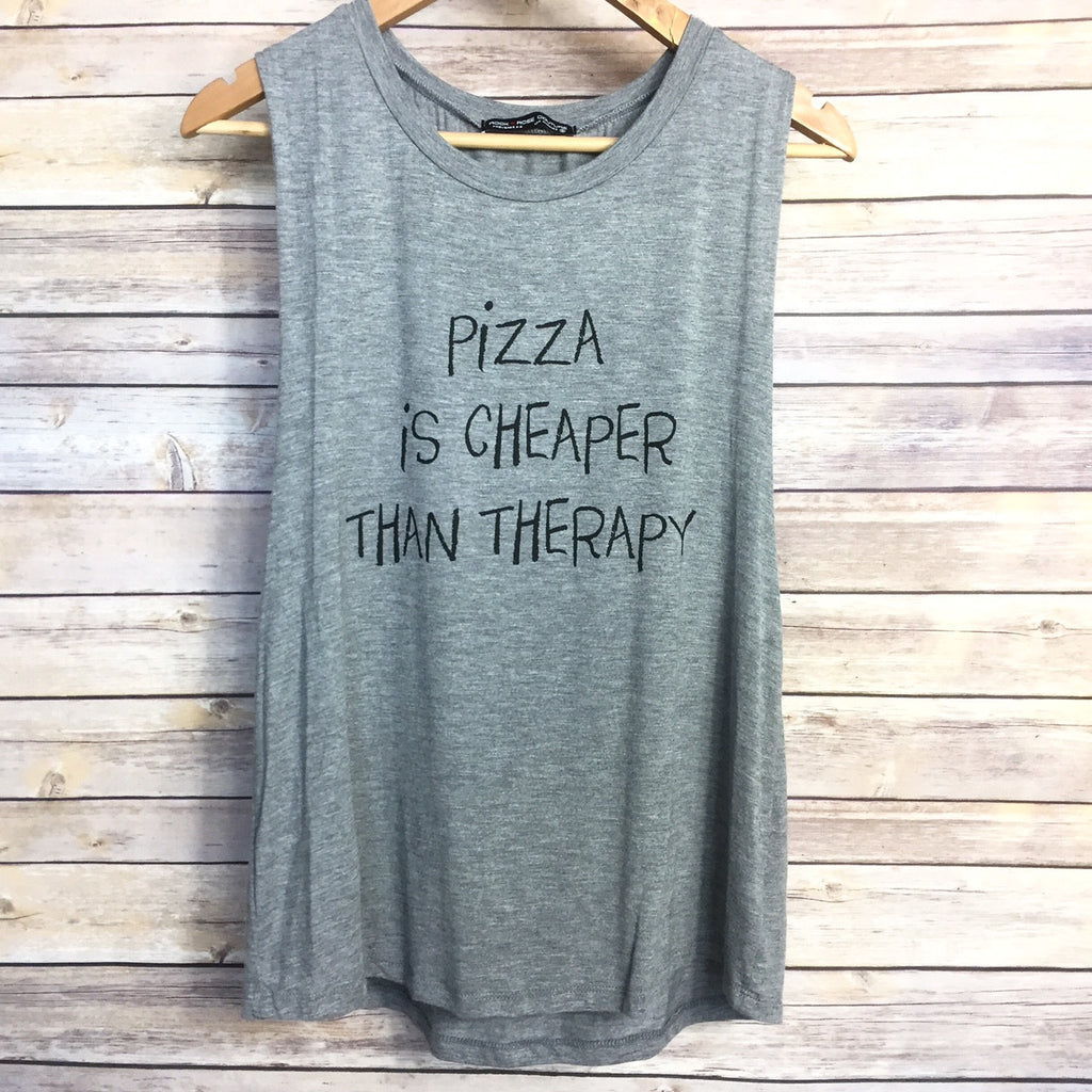 Pizza Is Cheaper Than Therapy Tank - Harper East Boutique