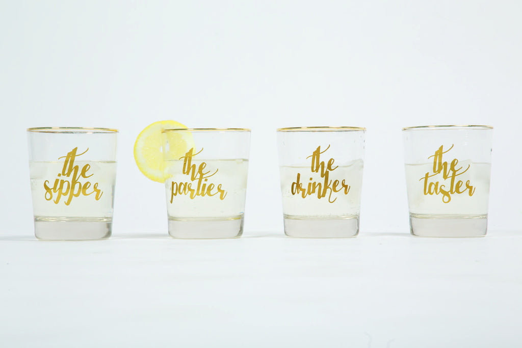 Multiple Personalities Old Fashioned Glass Set - Harper East Boutique