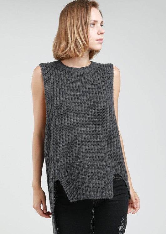 Winter In July Sleeveless Sweater