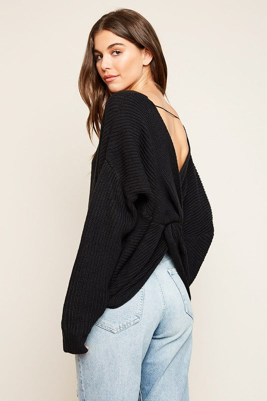 Criss Cross Woven Sweater