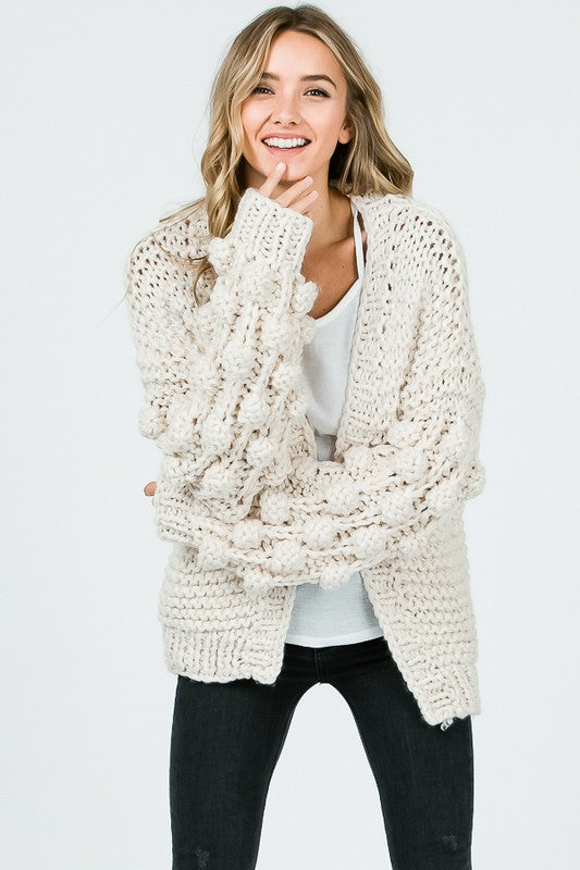 Burst Your Bubble Oversized Cardigan