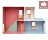 Parlour Dolls House Set Pink/Blue