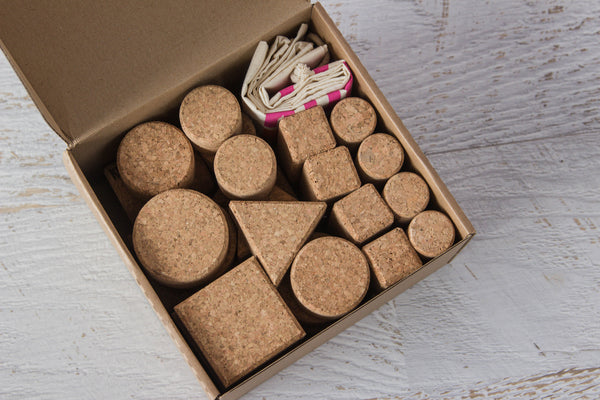 Cork Building Blocks Natural