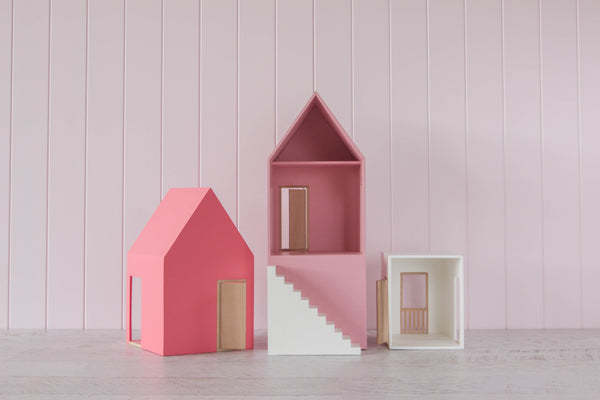 Townhouse Set Pink/White