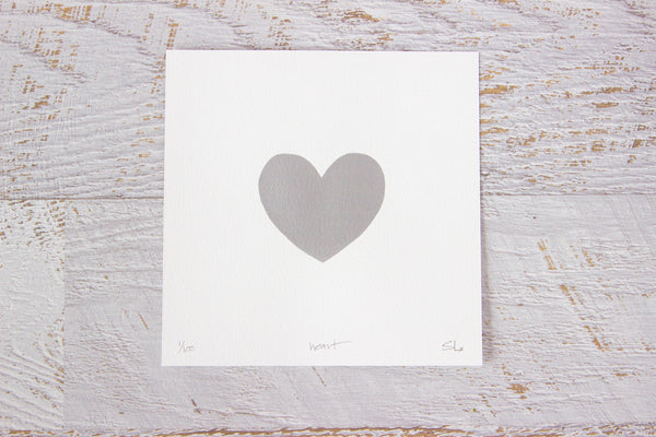 Heart Limited Edition Artwork Silver
