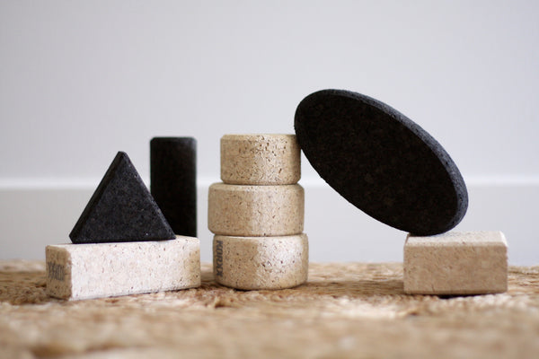 Cork Building Blocks Black/White