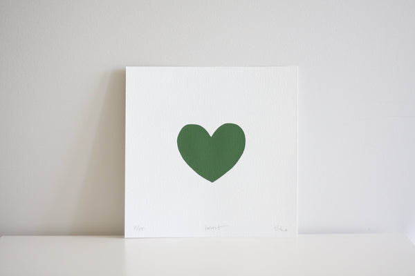 Heart Limited Edition Artwork Olive