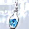 ***Free Hot Item*** Passion Flow Bottles Blue Heart Crystal Necklace --You Just Pay Shipping--
