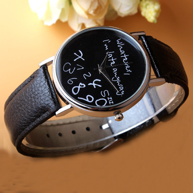 "Classy ""Whatever, I'm late anyway."" Irregular Figure Wristwatch FREE You only pay shipping"