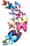 12 Pcs - 3D Butterfly Wall Stickers