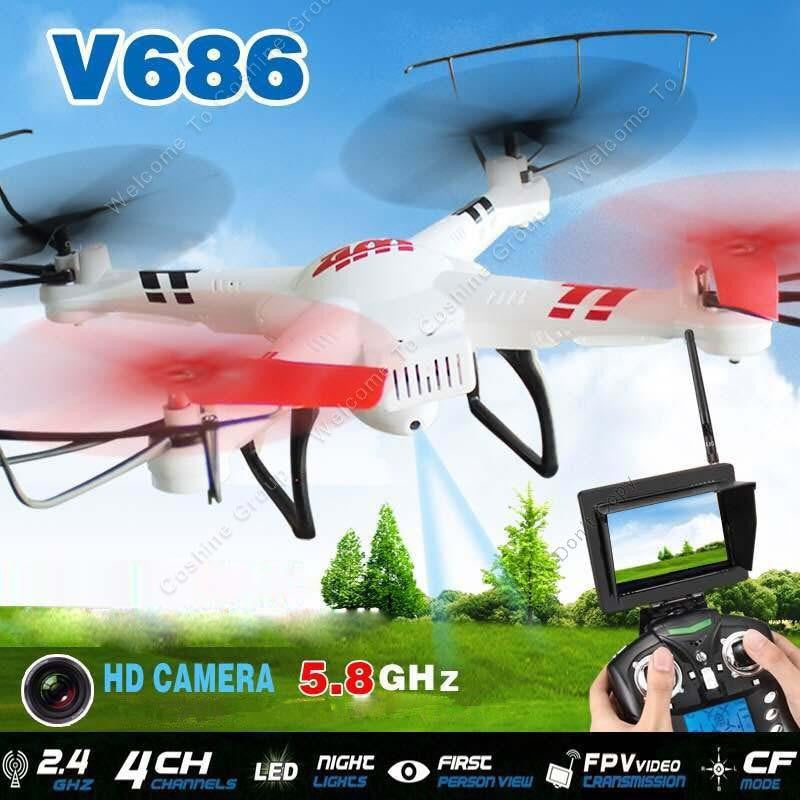 V686G RC Drone Aircraft with FPV Monitor and HD Camera